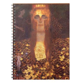 Gustav Klimt Minerva Pallas Athena Notebook