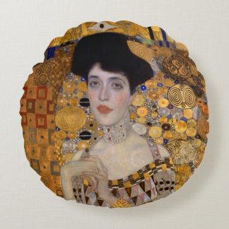 Gustav Klimt   Modified Version   Woman Round Pillow