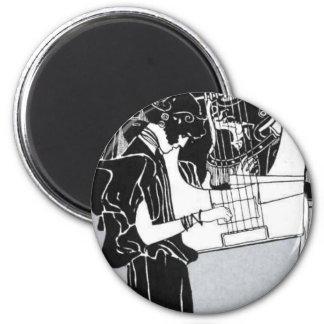 Gustav Klimt ~ Musik 2 Inch Round Magnet