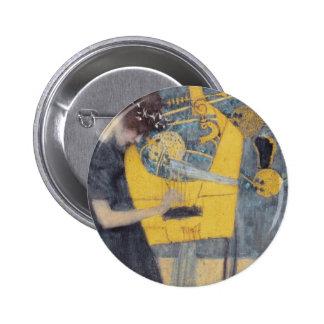 Gustav Klimt Musik Pinback Button