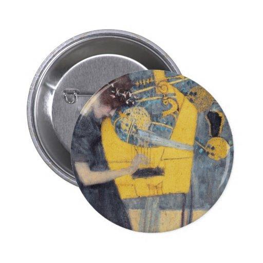 Gustav Klimt // Musik Pinback Button