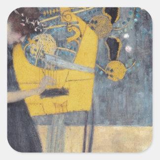 Gustav Klimt // Musik Square Sticker
