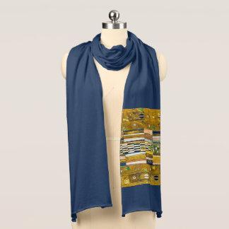 Gustav Klimt Navy Blue Scarf