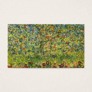 Gustav Klimt painting art nouveau The Apple Tree Business Card