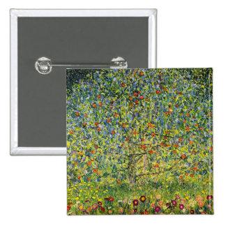 Gustav Klimt painting art nouveau The Apple Tree 2 Inch Square Button