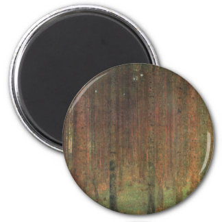Gustav Klimt - Pine Forest 2 Inch Round Magnet