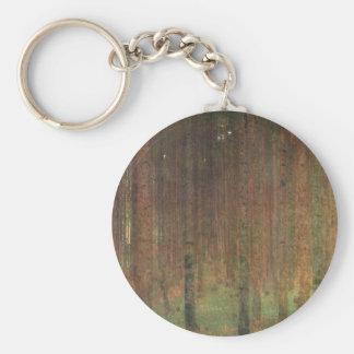 Gustav Klimt - Pine Forest Basic Round Button Keychain