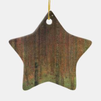 Gustav Klimt - Pine Forest Ceramic Star Ornament