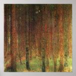 Gustav Klimt - Pine Forest II Landscape Poster