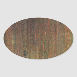 Gustav Klimt - Pine Forest Oval Sticker