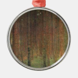Gustav Klimt - Pine Forest Silver-Colored Round Ornament