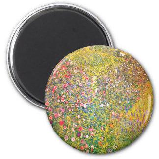 Gustav Klimt Pink Flowers Magnet Magnet