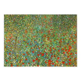 Gustav Klimt Poppy Field Invitations
