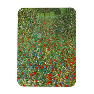 Gustav Klimt Poppy Field Magnet