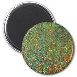 Gustav Klimt Poppy Field Fridge Magnets