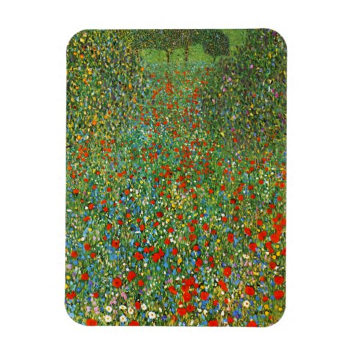 Gustav Klimt Poppy Field Magnet Flexible Magnet