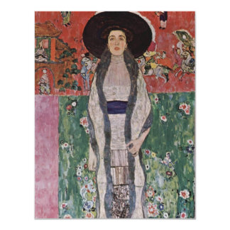 "Gustav Klimt Portrait of Adele Bloch-Bauer II 4.25"" X 5.5"" Invitation Card"