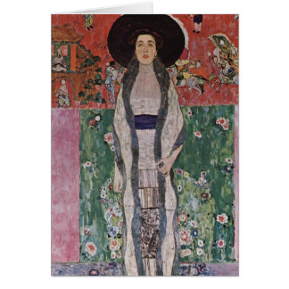 Gustav Klimt Portrait of Adele Bloch-Bauer II Greeting Card