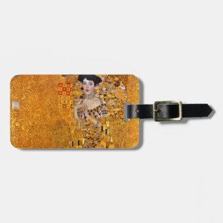 Gustav Klimt Portrait of Adele GalleryHD Vintage Luggage Tag