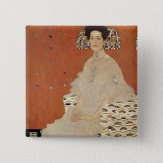 GUSTAV KLIMT - Portrait of Fritza Riedler 1906 2 Inch Square Button