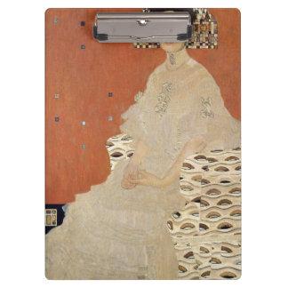 GUSTAV KLIMT - Portrait of Fritza Riedler 1906 Clipboard