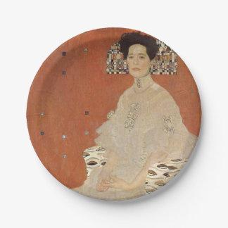 GUSTAV KLIMT - Portrait of Fritza Riedler 1906 Paper Plate