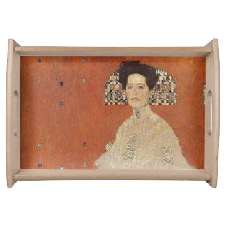 GUSTAV KLIMT - Portrait of Fritza Riedler 1906 Serving Tray