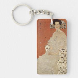 GUSTAV KLIMT - Portrait of Fritza Riedler 1906 Single-Sided Rectangular Acrylic Keychain