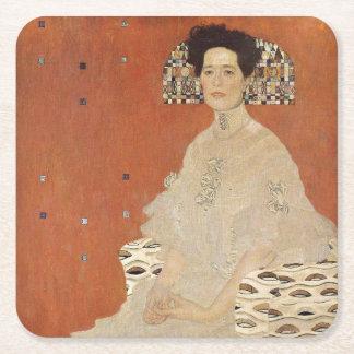 GUSTAV KLIMT - Portrait of Fritza Riedler 1906 Square Paper Coaster