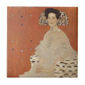 GUSTAV KLIMT - Portrait of Fritza Riedler 1906 Tile