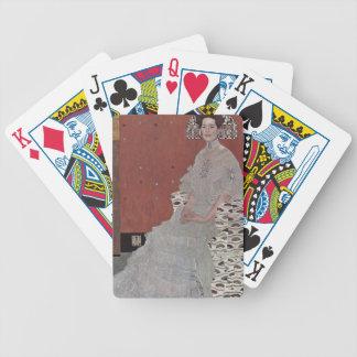 Gustav Klimt - Portrait of Fritza Riedler Bicycle Playing Cards