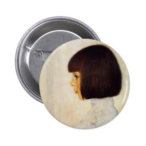 Gustav Klimt Portrait of Helene Klimt Button
