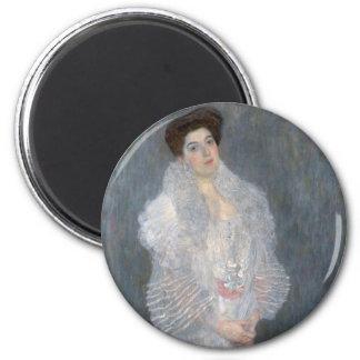 Gustav Klimt Portrait of Hermine Gallia 2 Inch Round Magnet