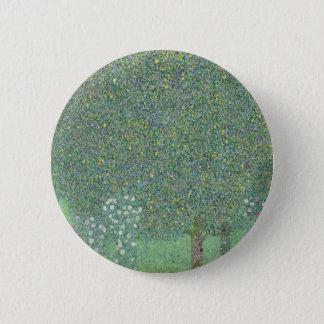 Gustav Klimt - Rosebushes under the Trees Artwork 2 Inch Round Button