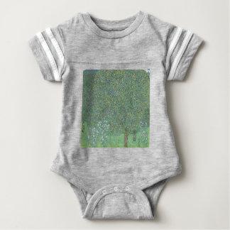 Gustav Klimt - Rosebushes under the Trees Artwork Baby Bodysuit
