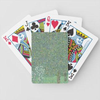 Gustav Klimt - Rosebushes under the Trees Artwork Bicycle Playing Cards
