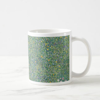 Gustav Klimt - Rosebushes under the Trees Artwork Coffee Mug