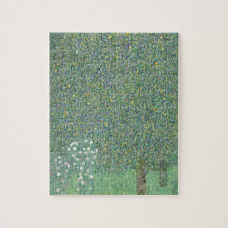 Gustav Klimt - Rosebushes under the Trees Artwork Jigsaw Puzzle