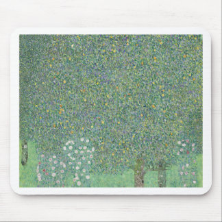 Gustav Klimt - Rosebushes under the Trees Artwork Mouse Pad