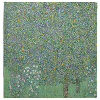 Gustav Klimt - Rosebushes under the Trees Artwork Napkin