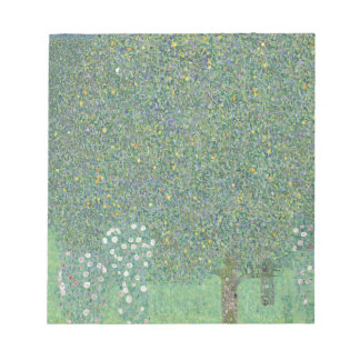 Gustav Klimt - Rosebushes under the Trees Artwork Notepad