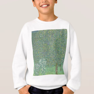 Gustav Klimt - Rosebushes under the Trees Artwork Sweatshirt