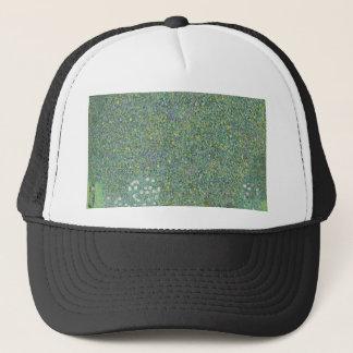 Gustav Klimt - Rosebushes under the Trees Artwork Trucker Hat