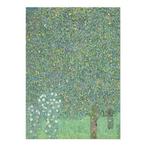 Gustav Klimt - Rosebushes under the Trees Personalized Invitations