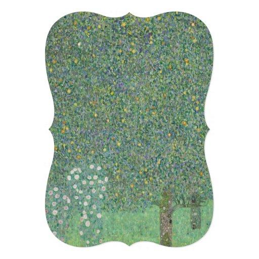 Gustav Klimt - Rosebushes under the Trees Invites