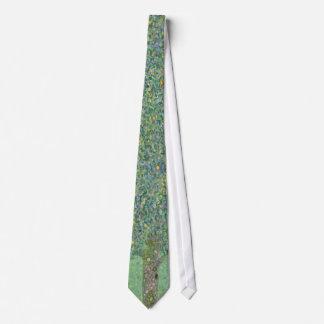 Gustav Klimt - Rosebushes under the Trees Tie