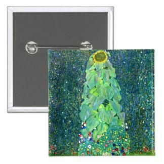 Gustav Klimt: Sunflower Pinback Button