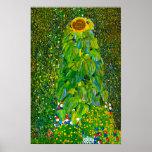 Gustav Klimt Sunflower Poster