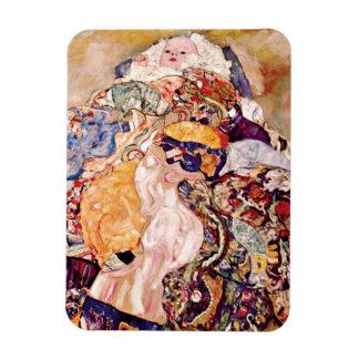 Gustav Klimt - The Baby Rectangular Photo Magnet