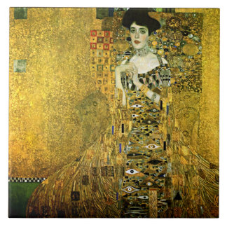 Gustav Klimt The Golden Lady Ceramics Tile
